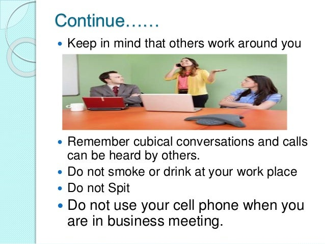 good manners in workplace