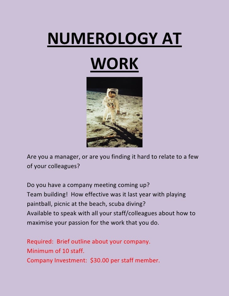 Workplace Numerology