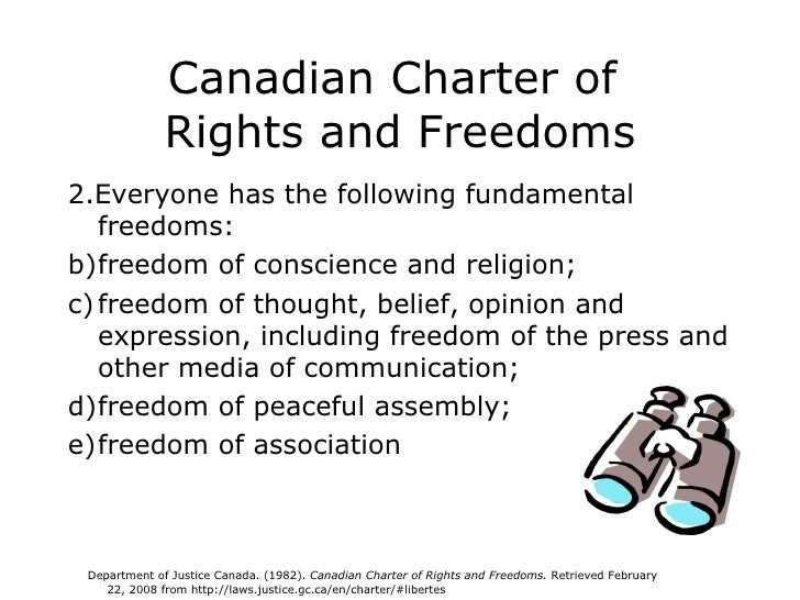 What is the definition of canadian charter of rights and freedom?