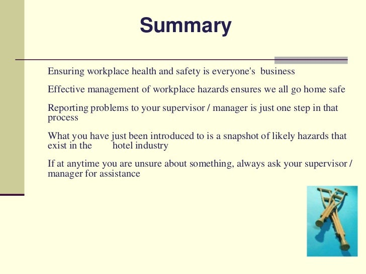 workplace health and safety essay This essay has been submitted by a law student this is not an example of the work written by our professional essay writers employees health and safety at work.