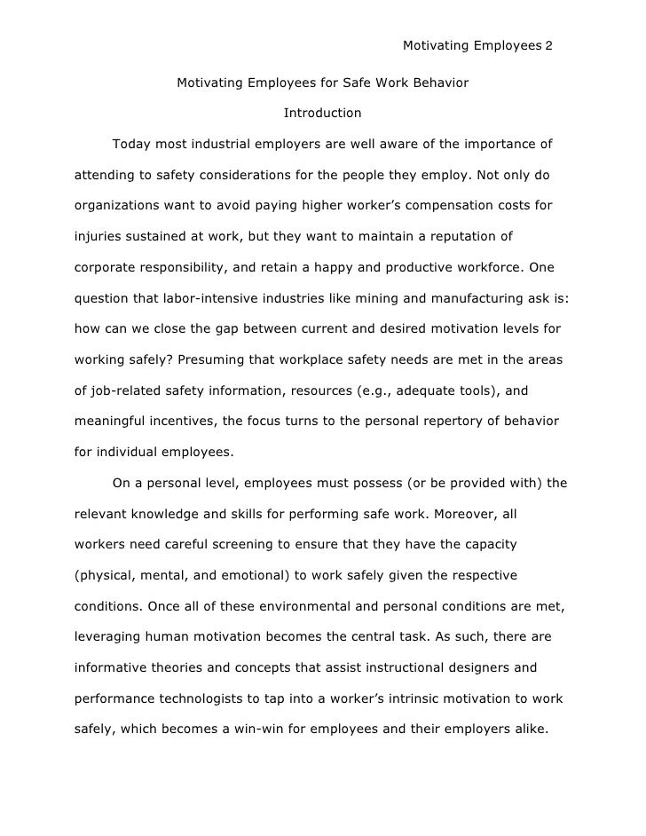 employee motivational theories and concepts essay