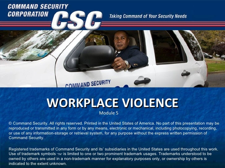 an analysis of workplace violence in the united states Several of the most serious incidents of workplace violence occurred before the  1990s on august 20, 1986, patrick henry sherrill entered the united states.