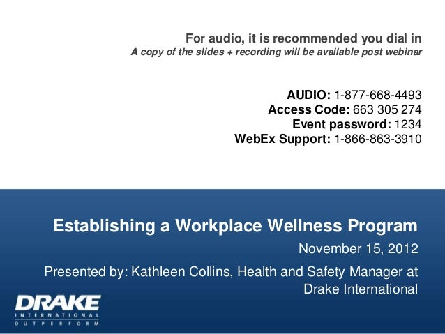 For audio, it is recommended you dial in              A copy of the slides + recording will be available post webinar     ...
