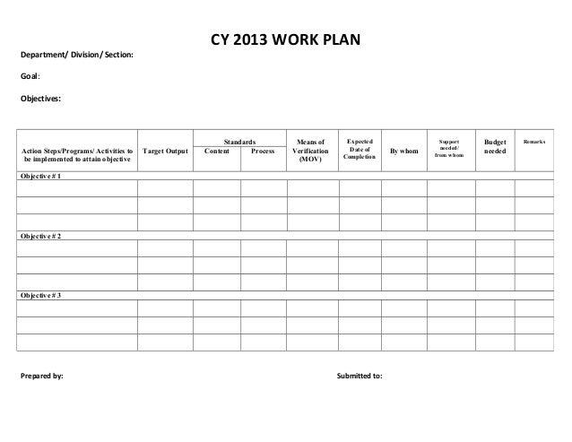 Work Proposal Samples