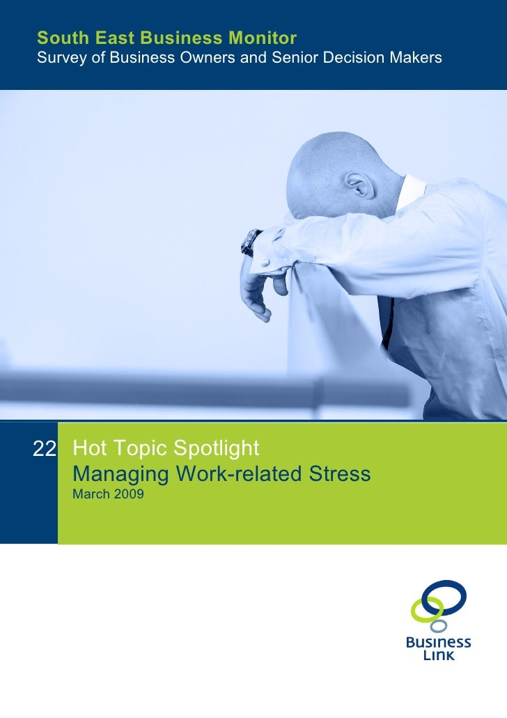 case study on stress management at workplace