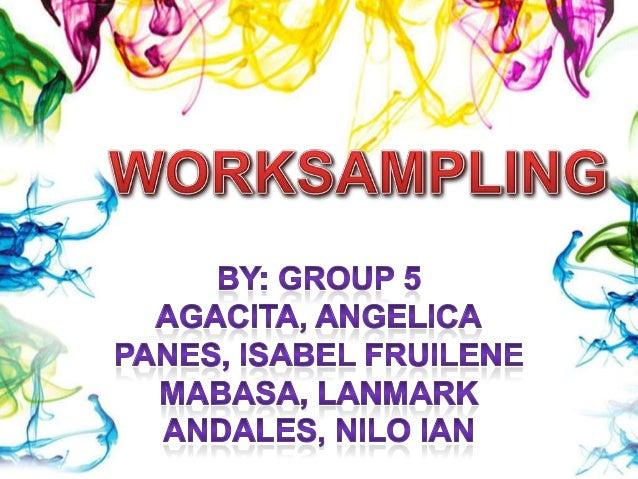 Worksampling - Methods Engineering