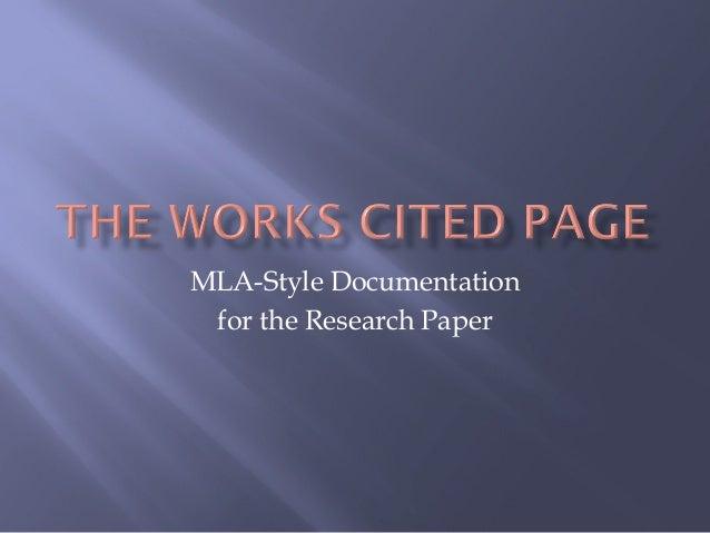 Works cited 2010 online