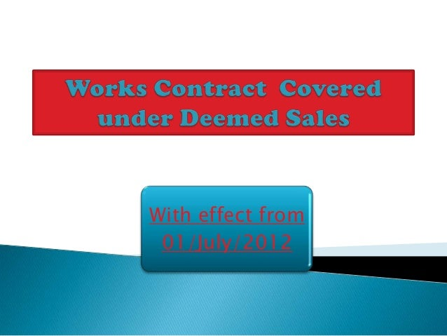 Works contract april 13