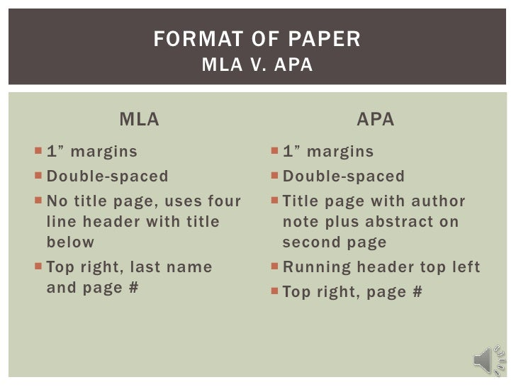 science paper format mla or apa Formatting papers in the mla or apa style is tricky downloading a free template does some of the heavy lifting, automating some formatting using the mla template to.