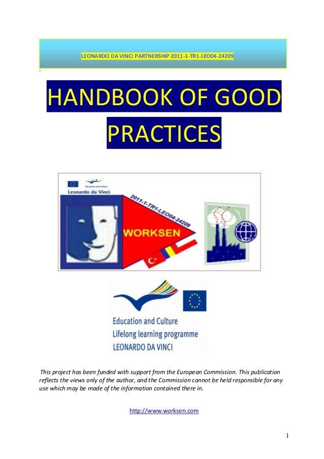 Manual de bune practici pentru proiectul LdV WorkSEN