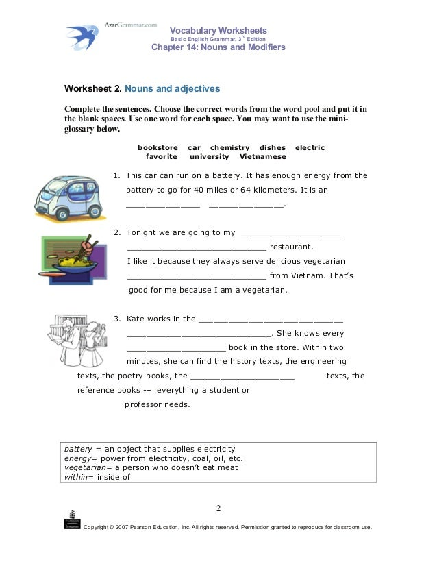 vocabulary worksheets rd basic english grammar 3 edition chapter 14