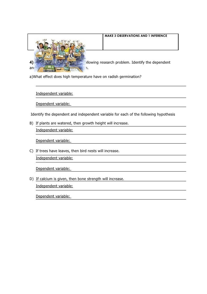 independent variable and dependent variable worksheet Termolak – Independent Variable and Dependent Variable Worksheet