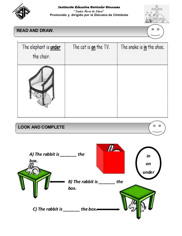 Worksheet prepositions of place 2 nd 2013 srl
