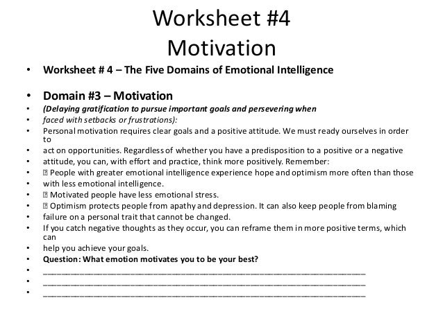 Image Gallery motivation worksheets