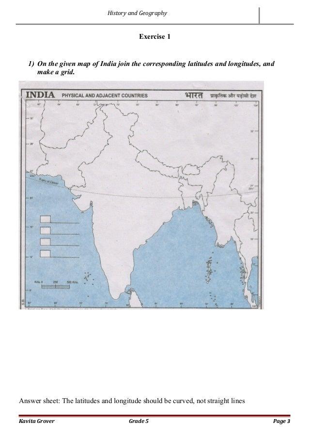using latitude and longitude worksheet
