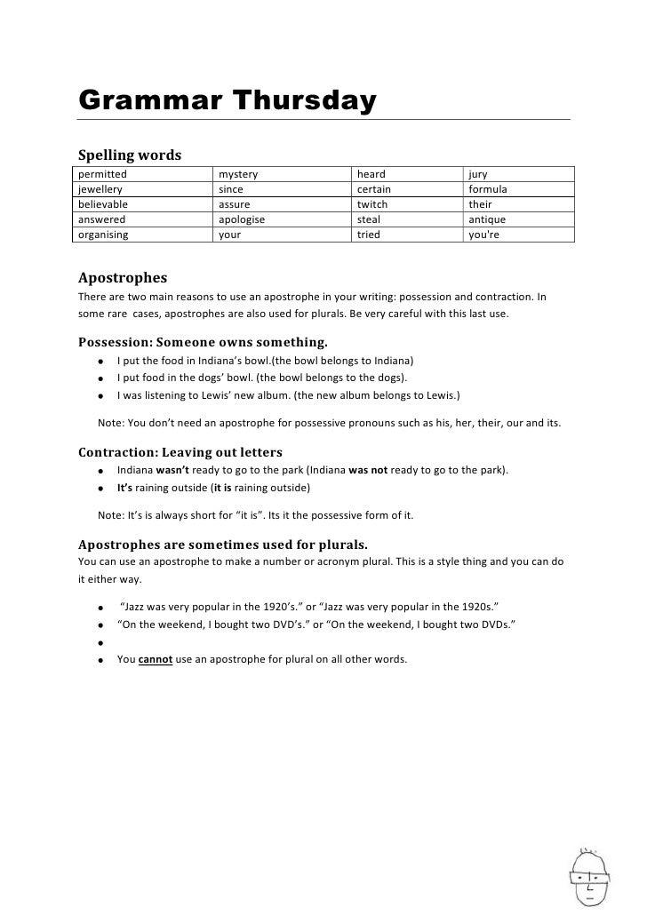 Grammar Thursday Spelling words permitted                     mystery                         heard             jury jewel...