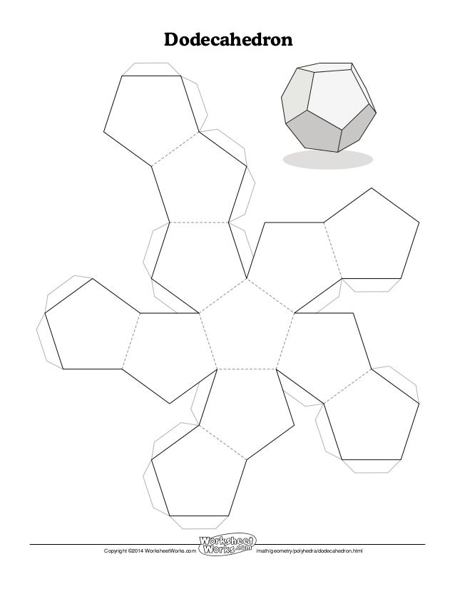 math worksheet : worksheet works dodecahedron 1 : Math Worksheet Works