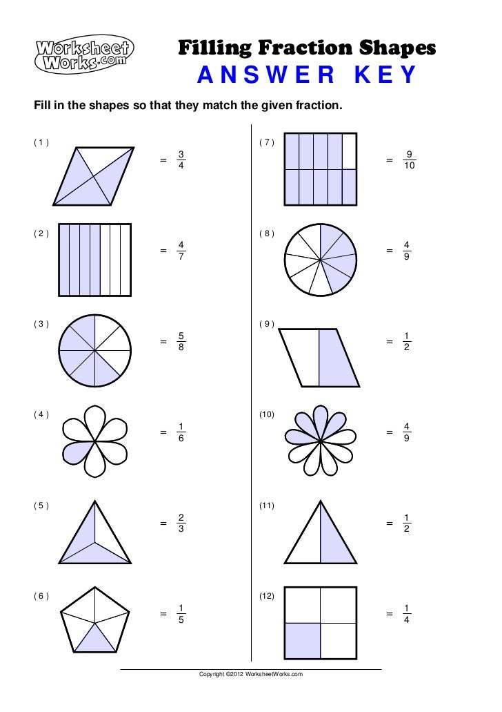 equivalent fractions worksheet grade 3