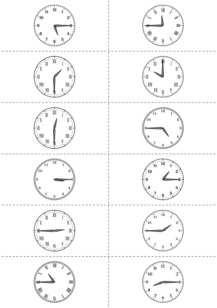worksheet works telling time flashcards 1. Black Bedroom Furniture Sets. Home Design Ideas