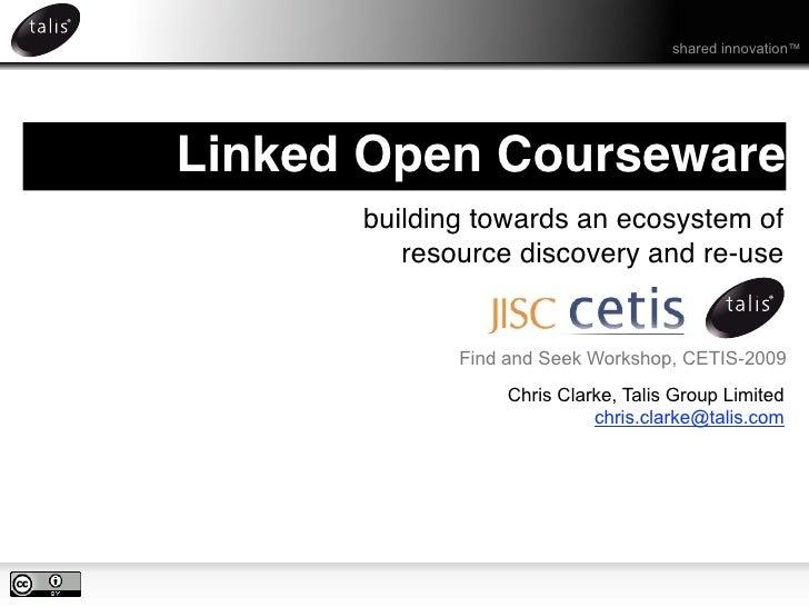 Linked Open Courseware