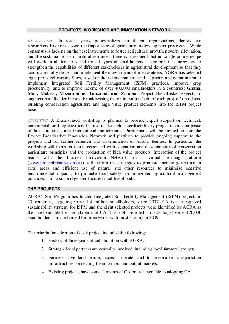 PROJECTS, WORKSHOP AND INNOVATION NETWORK<br />BACKGROUND: In recent years, policymakers, multilateral organizations, dono...