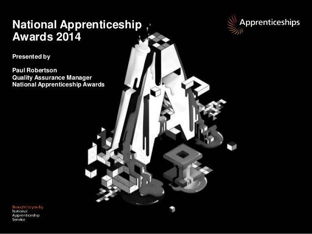 National Apprenticeship Awards 2014