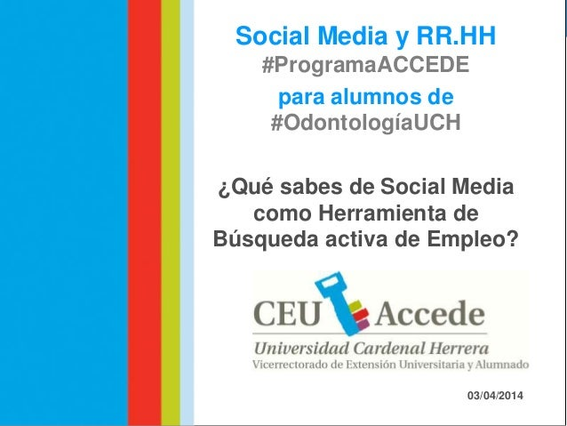 Workshop   accede redes sociales & social media - odontologia