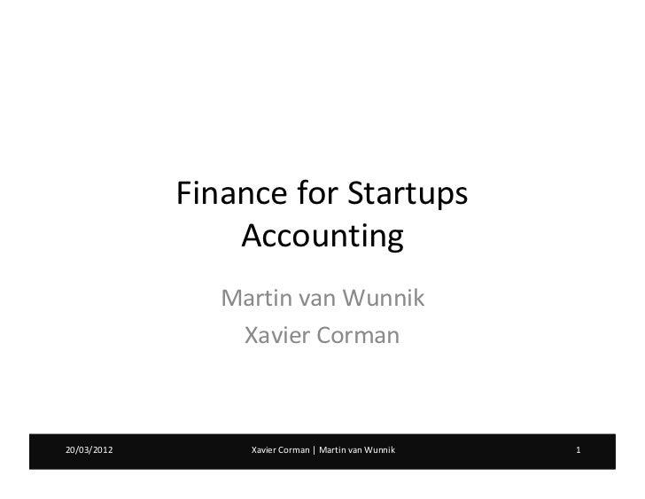 Workshop: Accounting