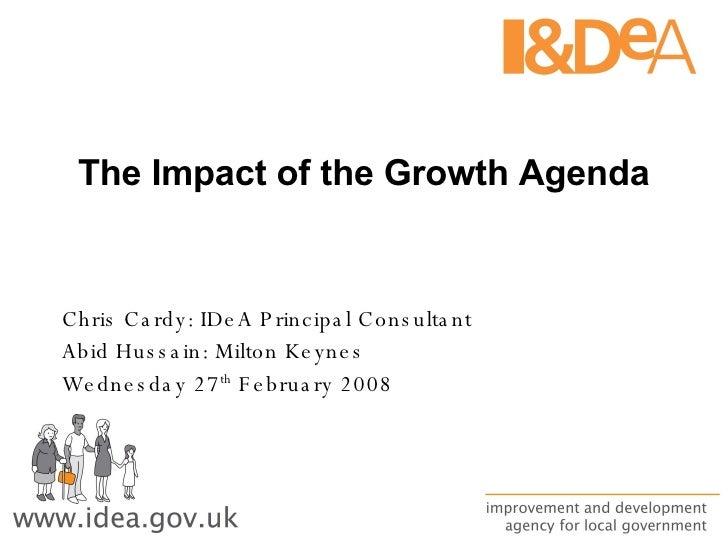 Workshop C   Impact Of Growth Agenda