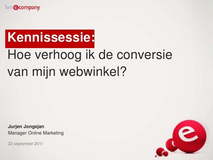 Verhoog de conversie van uw webwinkel