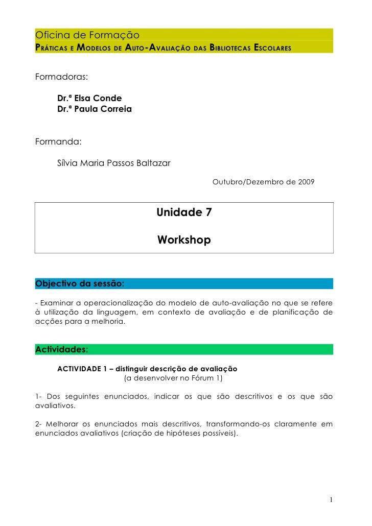 Workshop Tarefa 1