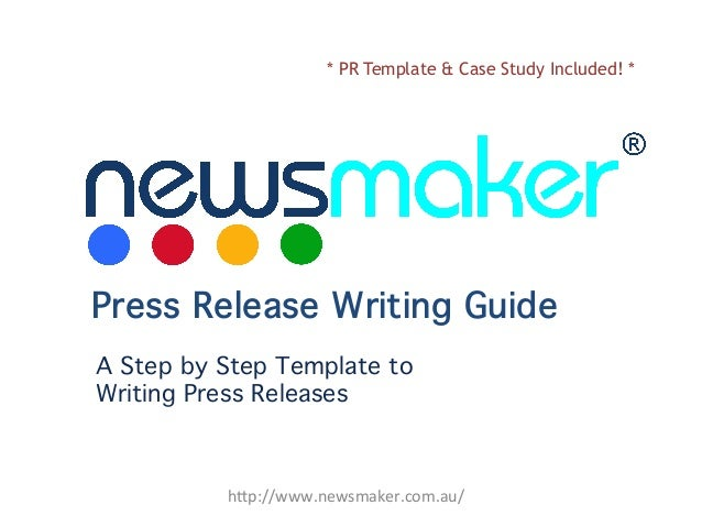 "* PR Template & Case Study Included! *  Press Release Writing Guide A Step by Step Template to  Writing Press Releases  h""..."