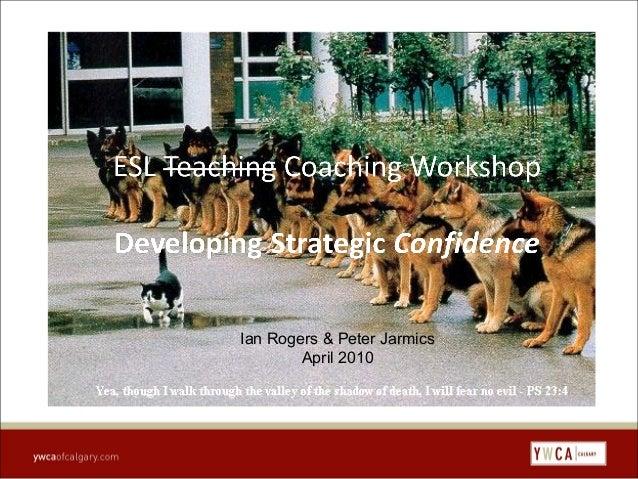 Workshop   strategic confidence