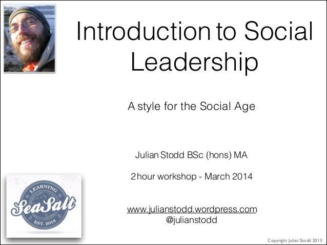 Workshop   the net model of social leadership (march 2014) v1