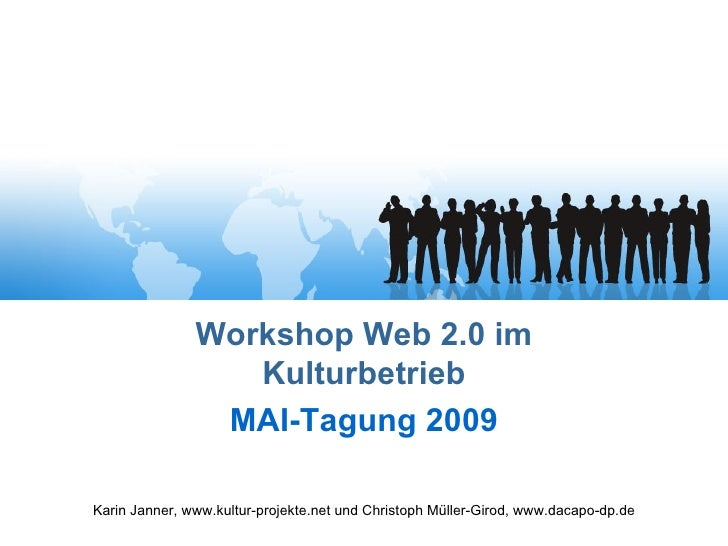 Workshop Web 2.0 im Kulturbetrieb MAI Tagung