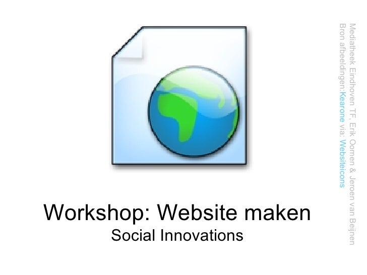 Workshop website maken - Social innovation