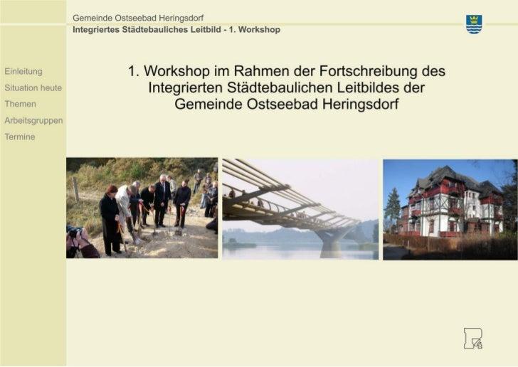 1. Workshop Fortschreibung Leitbild Heringsdorf