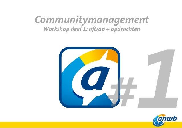 Social media stagetraject: Workshop 1
