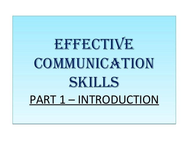 how to make effective communication skills
