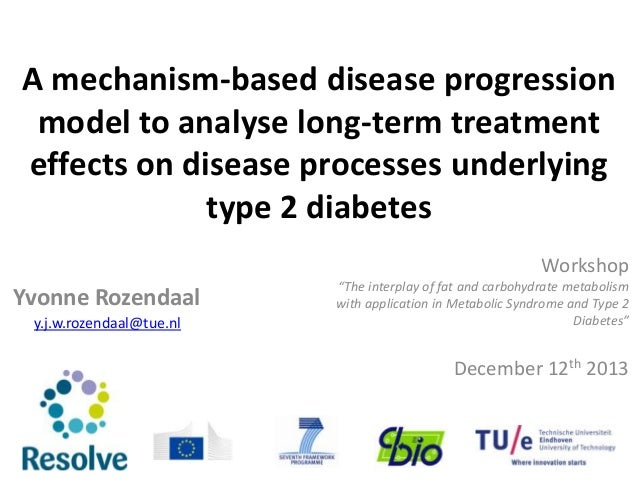 A mechanism-based disease progression model to analyse long-term treatment effects on disease processes underlying type 2 ...
