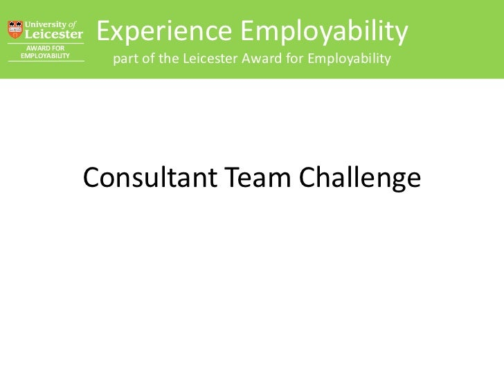 AWARD FOR                Experience EmployabilityEMPLOYABILITY                  part of the Leicester Award for Employabil...