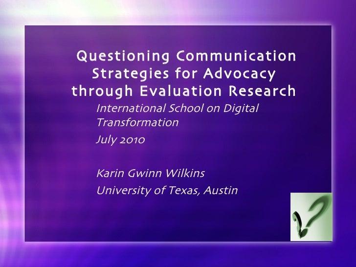 Karin Wilkins presentation