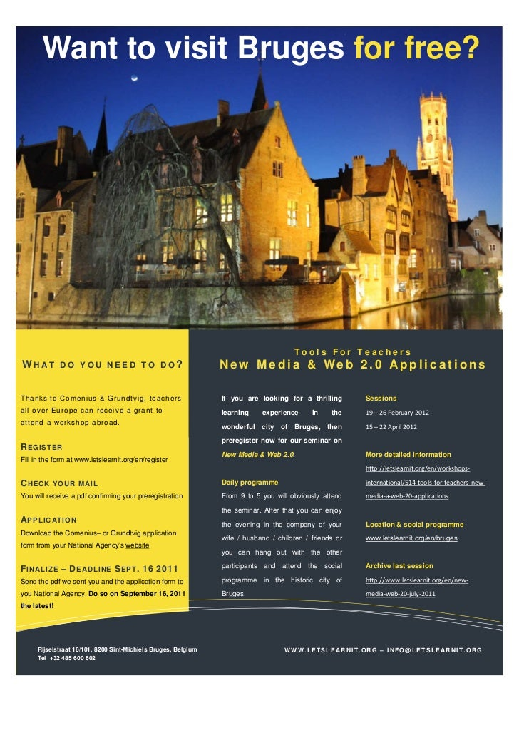 Want to visit Bruges for free?                                                                                     Tools F...