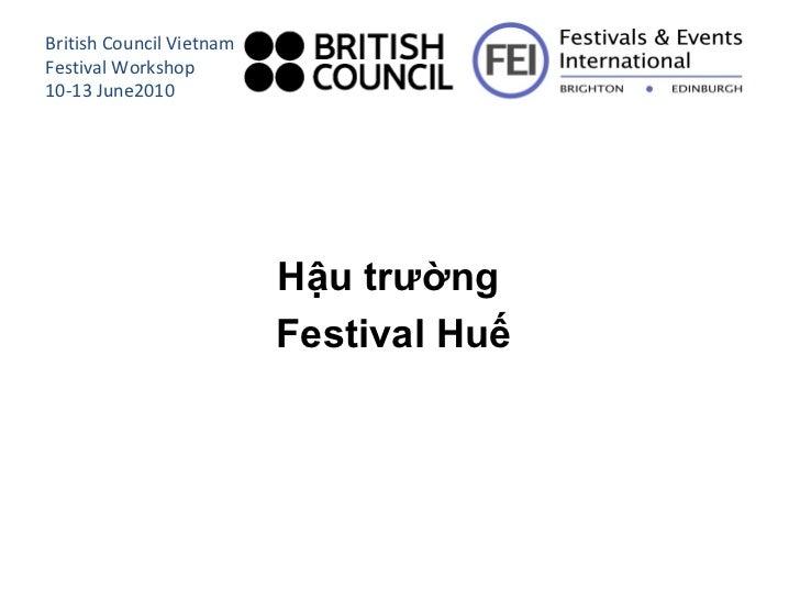Workshop 2 2 fei hau truong festival len chuong trinh