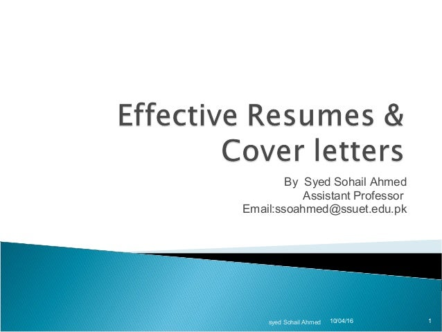 Effective resume cover letter for Succesful cover letters
