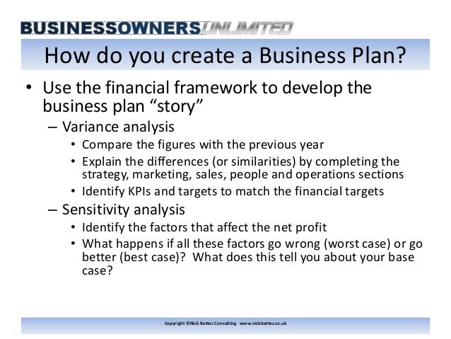 Prepare a business plan - Peter Jones