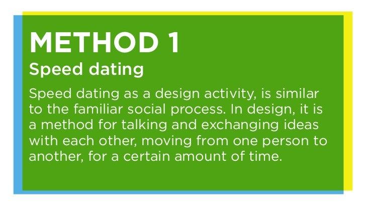Speed dating methode schule