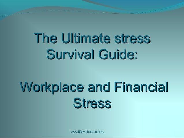 Work shop 2 workplace  financial stress