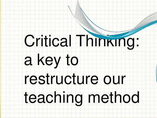 Critical thinking lesson