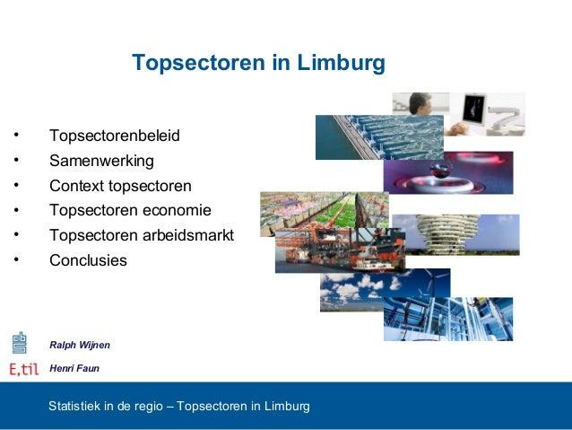 Workshop 3 Topsectoren